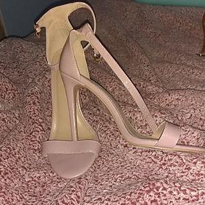 Pink stiletto heels